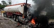 camión cisterna explotó