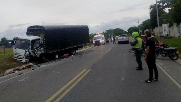 accidente en la vía a Caracolí
