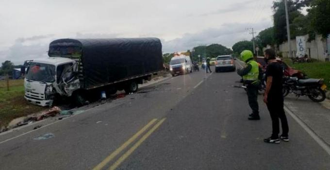 accidente en la vía a Caracolí
