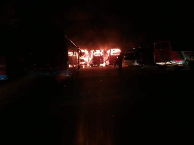 incendio cuatro buses cocorná