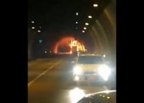 bus se incendió túnel
