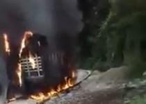 incendio camión por no pago extorsión