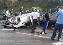 aparatoso accidente carretera del café